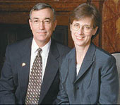 President Gregory Geoffroy and his wife Kathy