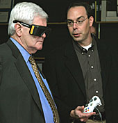 Newt Gingrich tours Iowa State's Virtual Reality Applications Center