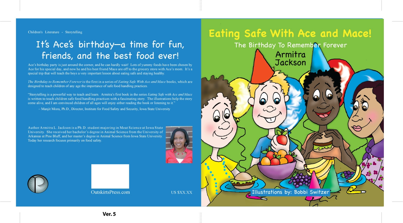 Children S Book Back Cover : Isu graduate student writes children s book on food safety