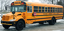 The Sigourney school district's hybrid bus.
