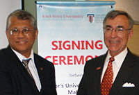 Vice chancellor Saad and President Geoffroy