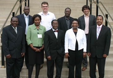 ISU's Manu (center front) with other members of the Association of African Agriculture Professionals in Diaspora. The group will serve as a resource to advise on agricultural practices and policies in Africa.