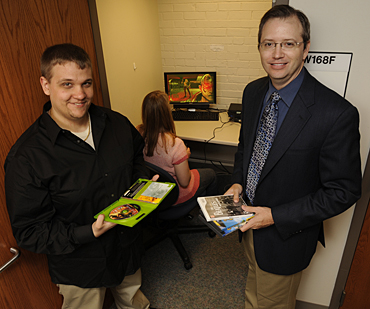 ISU psychology doctoral student Edward Swing (left) and Associate Professor Douglas Gentile (right) led the Pediatrics study.