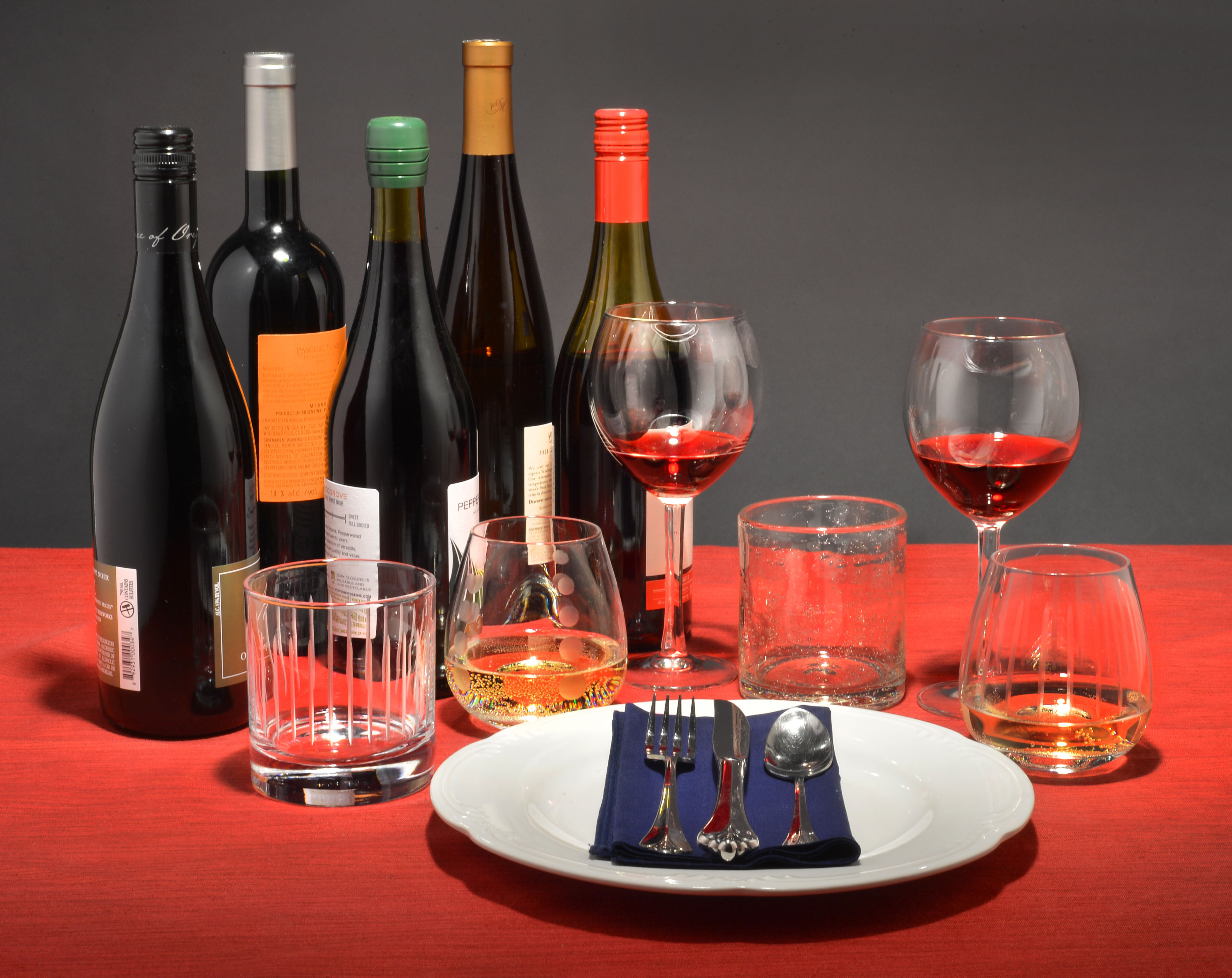 Over The Limit ISU Researchers Test How Size Shape And Color Of - Wine glass table setting