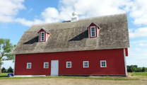Restored barn side
