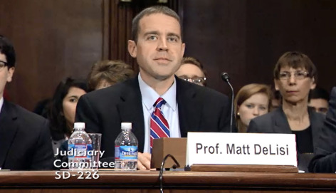 Matt DeLisi testifies before Senate Judiciary Committee