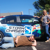 AMS students with KCCI car