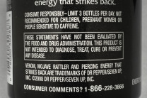 Energy drink labels