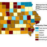 Iowa income inequality map