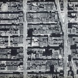 Aerial photo of 1945 Times Square