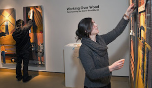 Drinkwater at her exhibit
