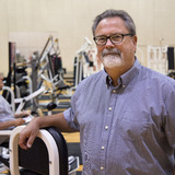 Rick Sharp portrait in gym