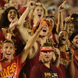 Fans at Cyclone football game
