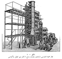 Sketch of 1911 water distillation plant