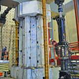 A hexcrete cross section is tested at the University of Minnesota's MAST Lab.