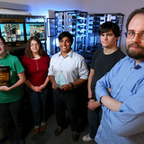 Members of winning cyber analyst team