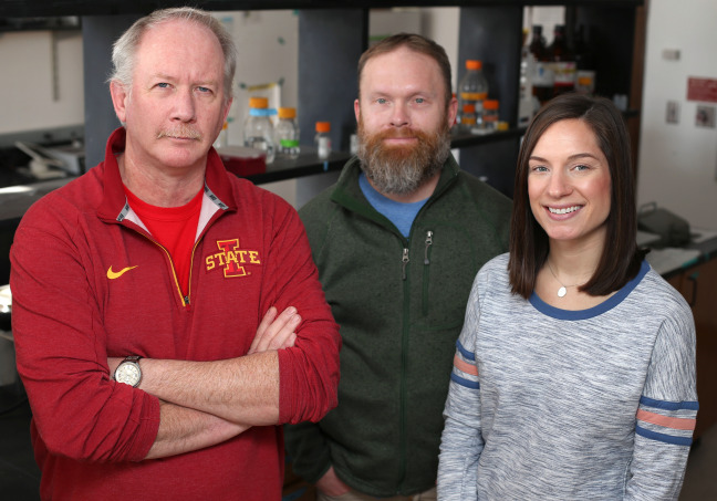 Team of Iowa State researchers in the lab