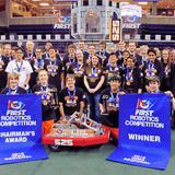The Cedar Falls High robotics team