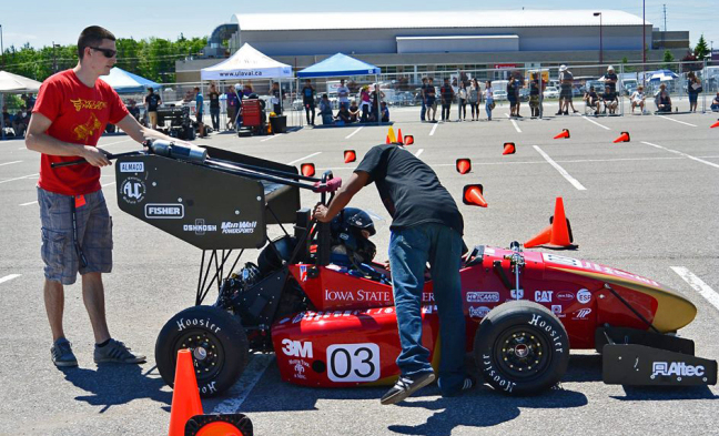 Iowa State's Formula SAE Team prepares to race at Formula North in Canada.