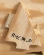 Numbered wood part