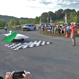 Team PrISUm takes the green flag for the American Solar Challenge.