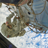 Clayton Anderson during a 2007 space walk at the International Space Station.