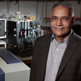 Ravindra Singh in his lab at Iowa State University