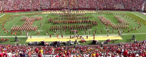 Band on field at Jack Trice
