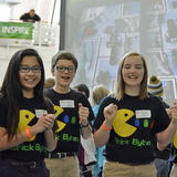 Students cheer on their robot during last year's Iowa FIRST LEGO League State Championship.