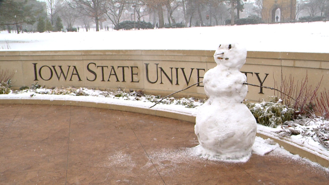 Postcard from Campus: Snow Globe