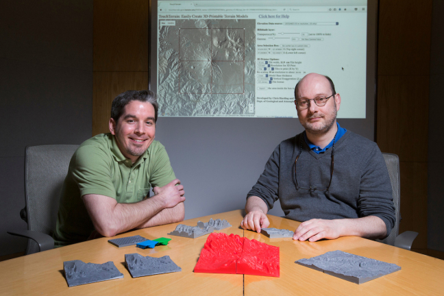 Alex Renner and Chris Harding, two of the developers of TouchTerrain