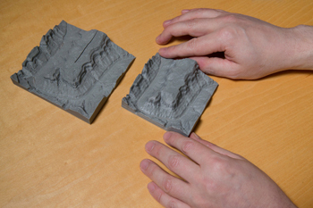 Two terrain models of the Grand Canyon