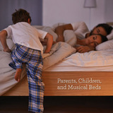 Book cover that shows child crawling into bed with mom and dad