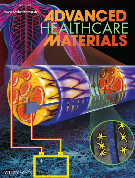 Cover image of Advanced Healthcare Materials