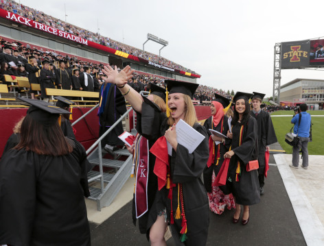 Commencement at Jack Trice Stadium