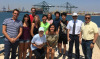 ISU students visiting Port of Valencia