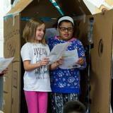 Edwards Elementary students perform maker theater