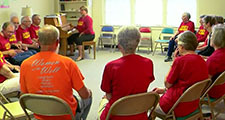 Parkinson's singing group rehearsing