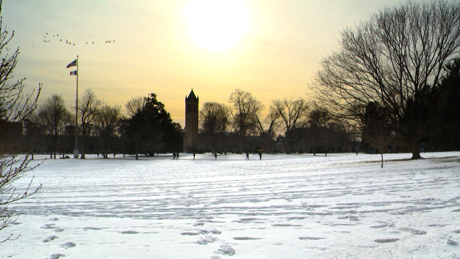 Postcard from Campus: Just Add Snow