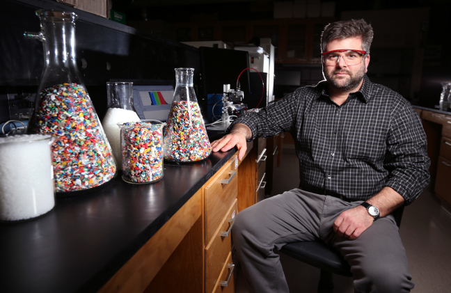 Keith Vorst in his laboratory at Iowa State University