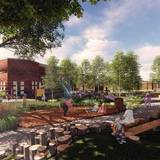 Children's garden rendering