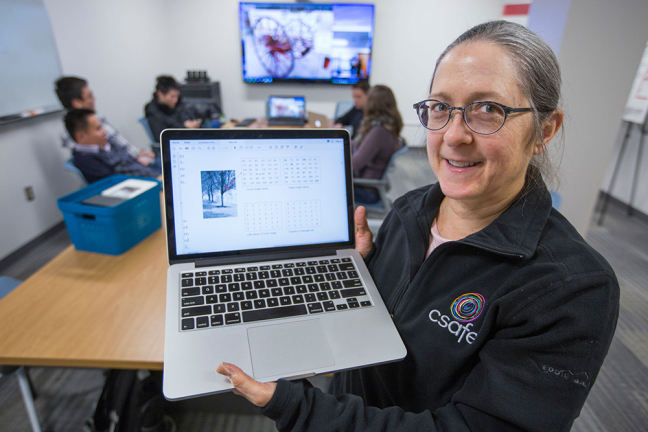 Jennifer Newman, an associate professor of math, is building a tool to help detect hidden messages in digital photos. The research is part of the federally supported Center for Statistics and Applications in Forensic Evidence based at Iowa State. Larger ph