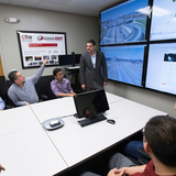 Anuj Sharma meets with transportation researchers