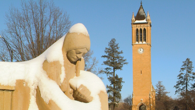 Postcard from Campus: Snow is Glistening