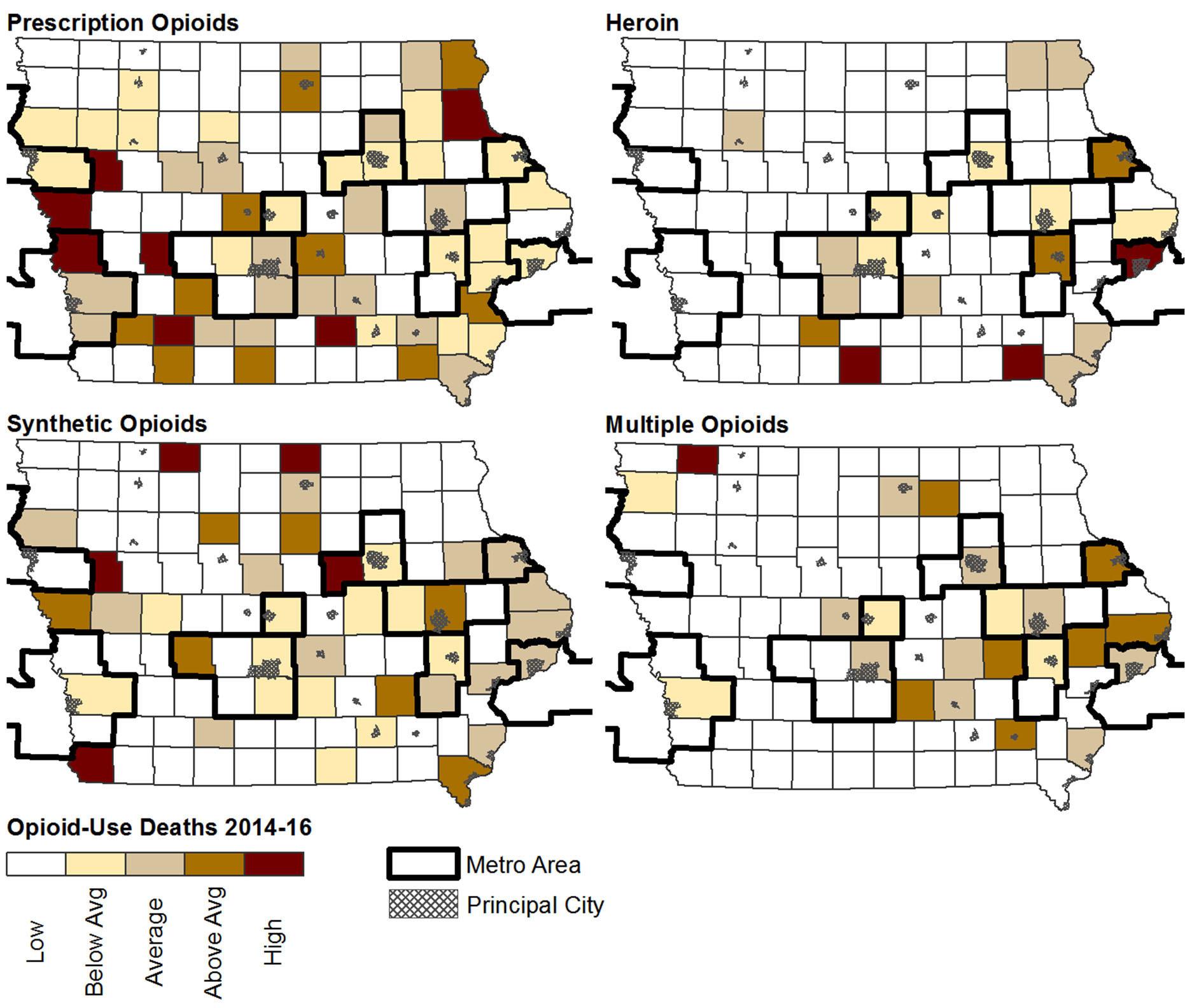 Prescription opioid overdose deaths falling in Iowa