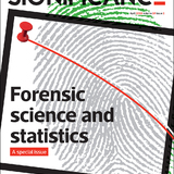 The April cover of Significance magazine, a special issue devoted to forensics science