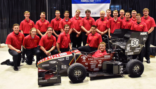 The Cyclone Racing team at Formula SAE North in Canada.
