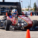 Cyclone Racing in action at the Formula SAE North competiton in Canada.