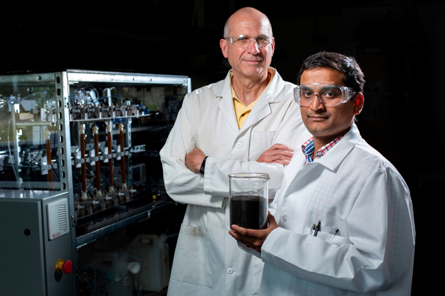 Robert C. Brown and Santanu Bakshi in the lab.