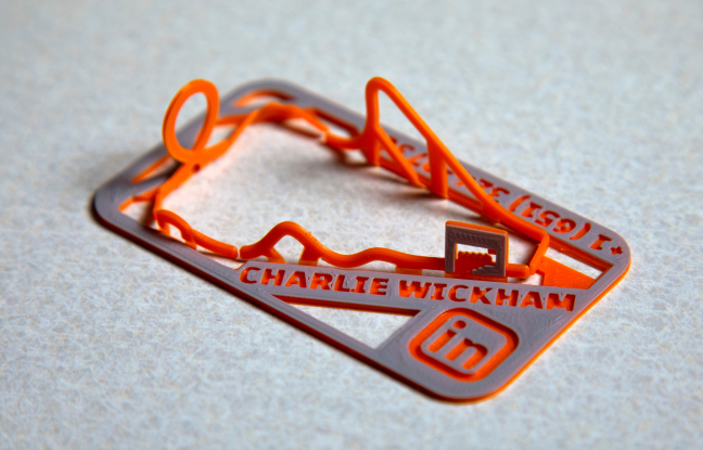 Charlie Wickham business card